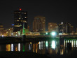 dayton skyline at night with river