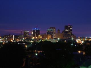 dayton, ohio skyline at night