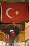 turkish flag at bazaar poster