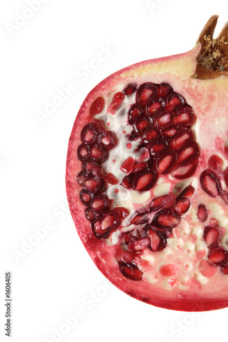 half pomegrante isolated
