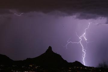 lightning thunderstorm at pinnacle peak