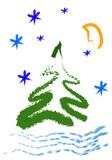 christmas greeting card poster