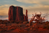 west mitten at sunset, monument valley, arizona poster