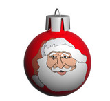 christmas sphere with  santa claus poster