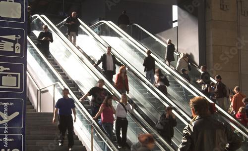 escalator backlit