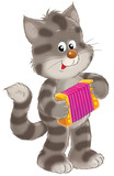 grey striped kitten poster