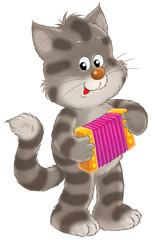grey striped kitten
