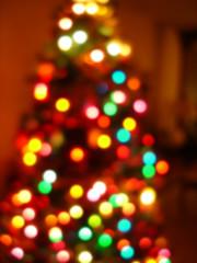 christmas tree blur in camera