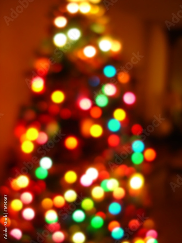 christmas tree blur in camera