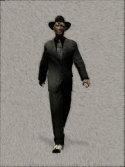 creepy man with hat