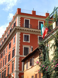 urban housing - rome street scenic poster