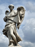 angel statue in rome, italy poster