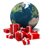 Fototapety world box _christmas 4