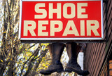 shoe repair sign poster