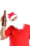 santa claus drinking poster