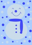 christmas - simple snow man poster