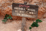 caution sign - do not climb poster