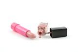 lipstick and nail polish poster