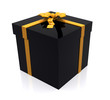 gift in black and yellow