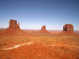 three western buttes - monument valley poster