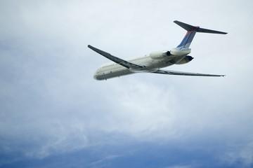 departing airplane