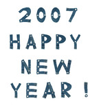 2007 happy new year poster