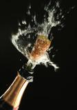 champagne bottle ready for celebration poster