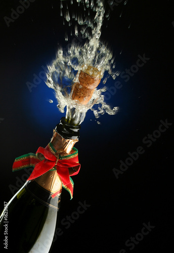 poster of champagne bottle ready for celebration