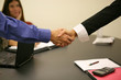 handshake in business office