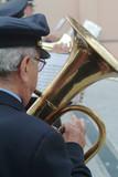 uniform musician playing trumpet poster