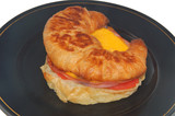 ham and cheese breakfast sandwich poster