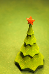 christmas tree on a billiard table