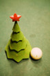 christmas-tree on a billiard table