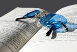 blue sunglasses poster