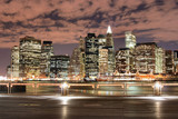 Fototapety manhattan skyline at night
