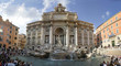 rome - trevi fountain - panorama