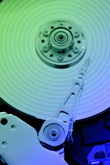 colorful hard disk memory