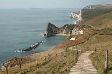 coastal path to durdle door