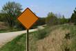 rural road sign - blank
