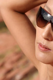 sexy asian girl in sun glasses poster
