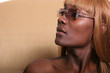 african american woman in sun glasses