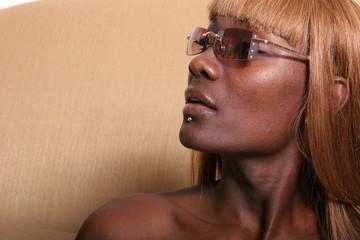 african american woman in sun glasses