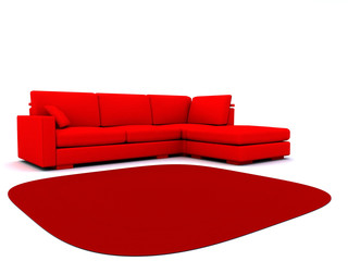 sofa and carpet
