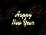 fireworks background - new years eve poster