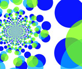 fractal background - round colorful shapes poster