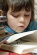small girl reading
