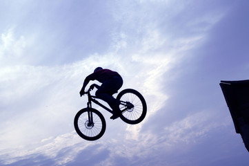 extreme mountain bike jumper