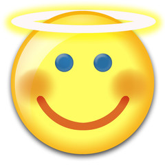 angel smiley face