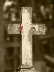 old graveyard cross