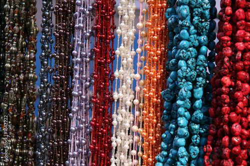 poster of hanging textured necklaces